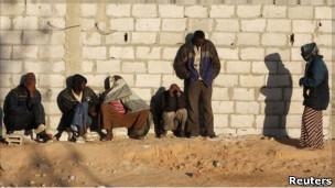 مهاجرون أفارقة في سيناء بمصر