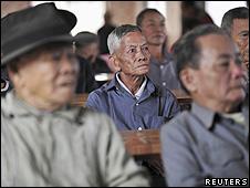 Idosos em uma casa de repouso na província de Chengmai, na China