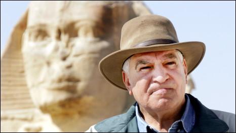 الأمين العام للمجلس الأعلى للآثار في مصر، زاهي حواس