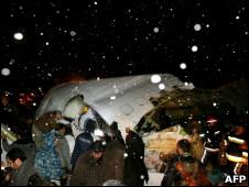 تصویری از بقایای هواپیمای سانحه دیده در ارومیه