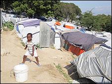 Campamento de Corail, en Haití.