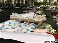 Центр для жертв наводнений в Австралии
