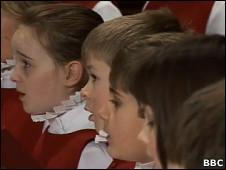 Niños miembros del coro