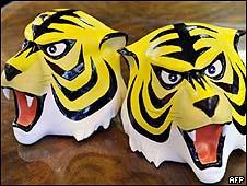 Réplica da máscara usada pelo personagem/AFP