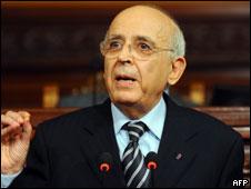 Primer ministro de Túnez, Mohamed Ghannouchi
