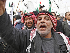 Manifestante en Jordania