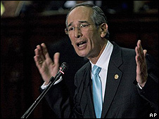 Alvaro Colom, presidente de Guatemala