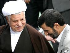 احمدی نژاد و رفسنجانی