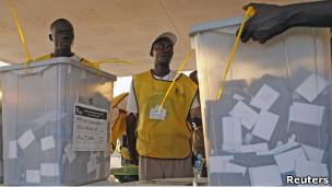 مركز اقتراع في جوبا
