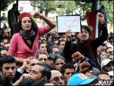 Protesto em Túnis