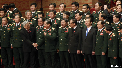 Lãnh đạo Đảng và Chính phủ cùng các tướng lĩnh Việt Nam