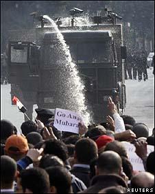 Manifestantes no Cairo
