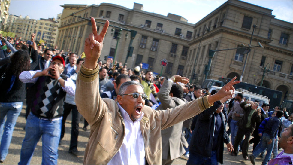احداث الثورة المصرية بداية من 25 يناير حتى النهاية