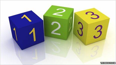 Cubos con números