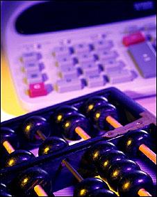 Abaco y calculadora