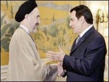 استقبال بن علی از خاتمی در  تونس