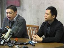 王丹和吾尔开希在台北召开记者会(27/01/2011)