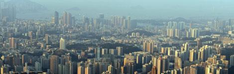 View across a city