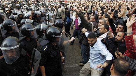 Choques violentos se espalham por nove cidades do Egito