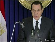 حسنی مبارک، رئیس جمهور مصر