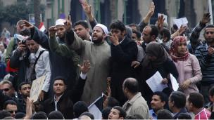 الازهريون ينضمون الى المتظاهرين