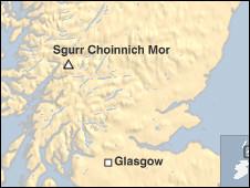 Peta Sgurr di  Skotlandia