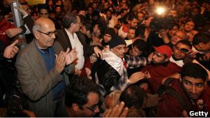 البرادعي في ميدان التحرير