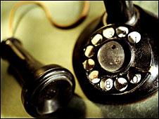 Un antiguo teléfono