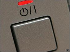 Botón de apagado y encendido de una computadora