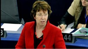 کاترین اشتون مسئول سیاست خارجی اتحادیه اروپا