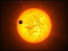 Планета загораживает часть зезды