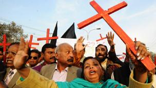 مسیحی مظاہرہ: فائل فوٹو