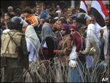 开罗解放广场上的示威者(06/02/2011)