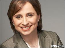 Carmen Aristegui, periodista mexicana (Imagen cortesía de CNN en español)