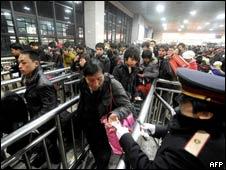 春运期间的北京火车站(29/01/2011)