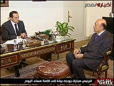 穆巴拉克同副总统苏莱曼