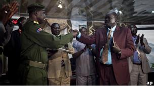 توقيع اتفاق وقف اطلاق النار مع ممثلي الجنرال اتور