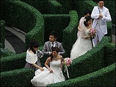 Parejas casándose en Japón