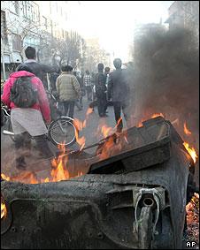 عکسی از معترضان در روز 25 بهمن تهران