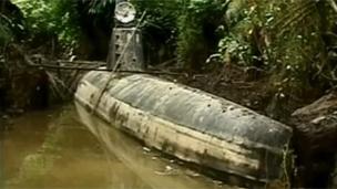 Submarino narco en Colombia