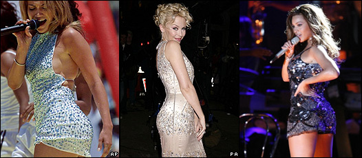 Jennifer López, Kylie Minogue y Beyonce Knowles