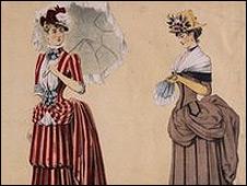 Mujeres con polisones