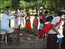 Miembros de la comunidad Wichí en Argentina. Fotografías Horacio Alderete.