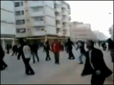利比亚班加西示威者(18/2/2011)