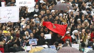 Aksi demonstrasi di Casablanca, Maroko