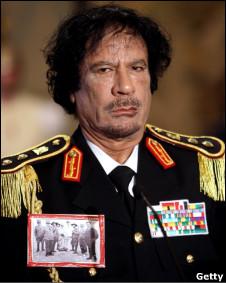 O líder líbio Muamar Khadafi