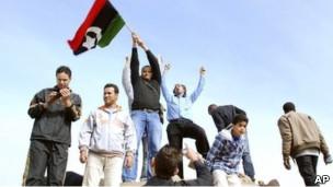 Bingazi'deki göstericiler