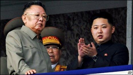 Hai cha con ông Kim Jong-il