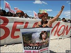Protestas contra la represa de Belo Monte