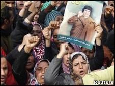 Seguidores de Muamar Gadafi en Libia